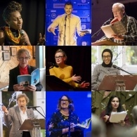grid of authors pics from 2017 festival