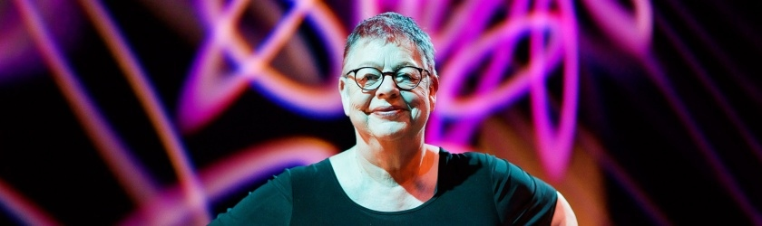 Portrait shot of comedian Jo Brand