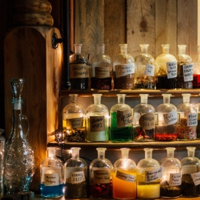 Image of apothecary bottles