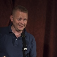 Author Patrick Ness giving a reading at Manchester Town hall during the 2013 festival