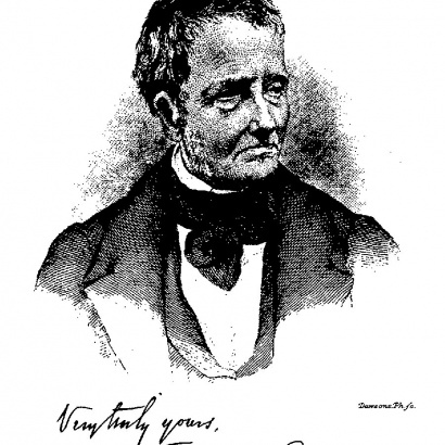 A drawing of writer Thomas de Quincey