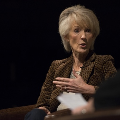 Author Joanna Trollope in conversation with Jenni Murray during MLF13