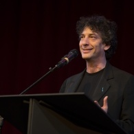 Author Neil Gaiman reads from new book Fortunately the Milk at MLF13